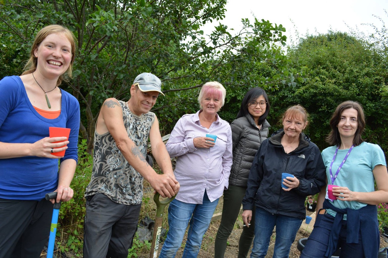 Grow Together group on allotment