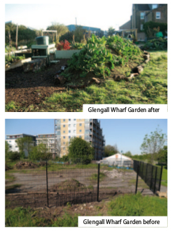 Glengall Wharf Garden before and after