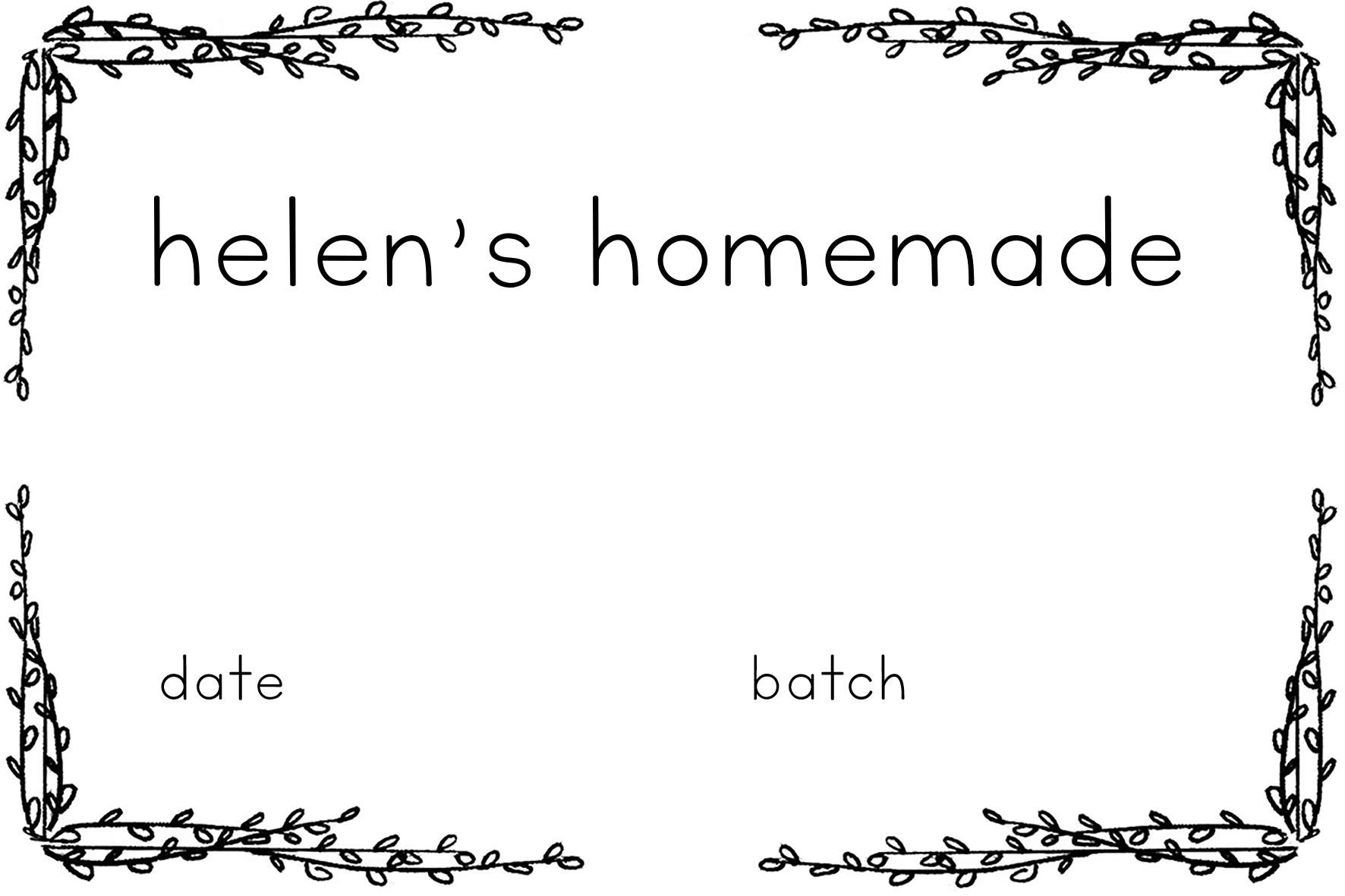 Labels - Helen's homemade