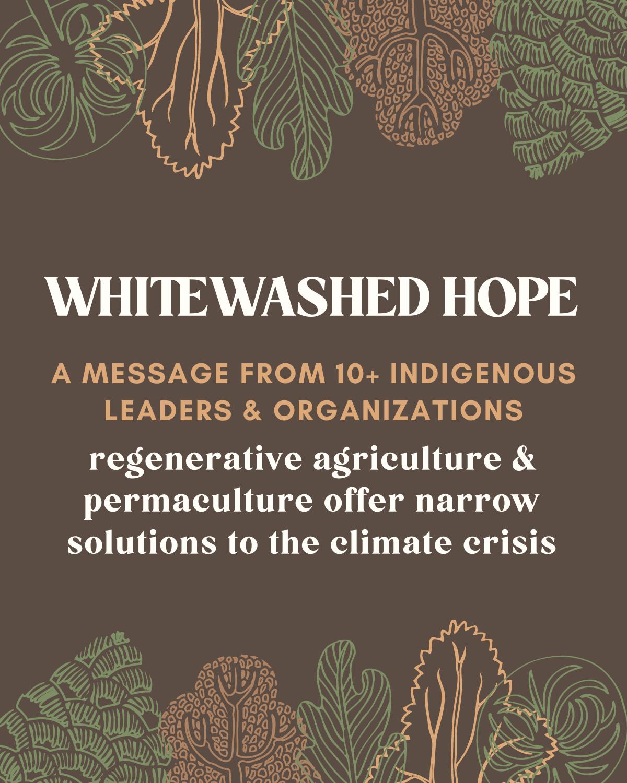 Whitewashed Hope