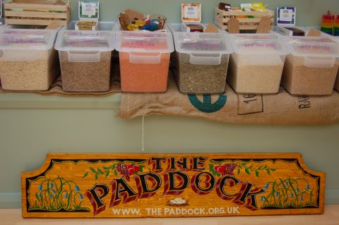 The Paddock plastic free pantry wooden sign and containers