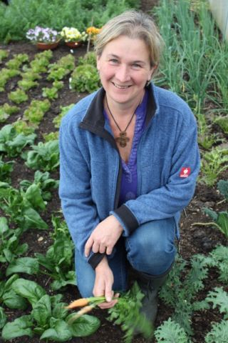 Steph Hafferty in her garden